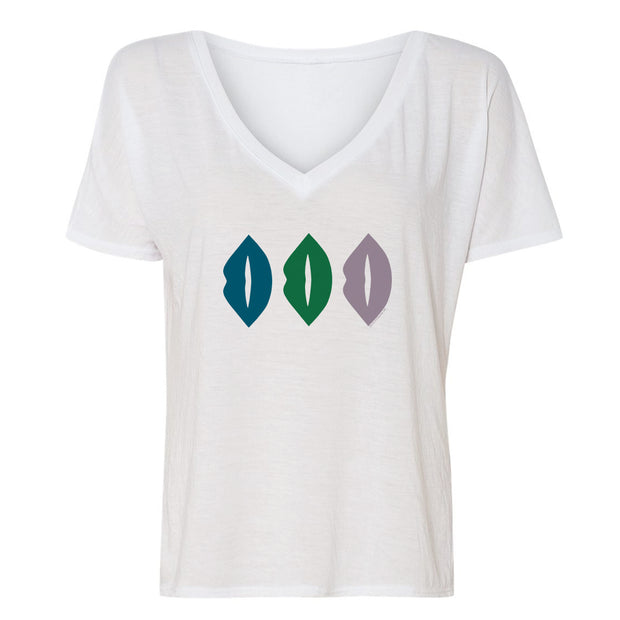 The L Word: Generation Q The Alice Show Lips Women's Relaxed V-Neck T-Shirt