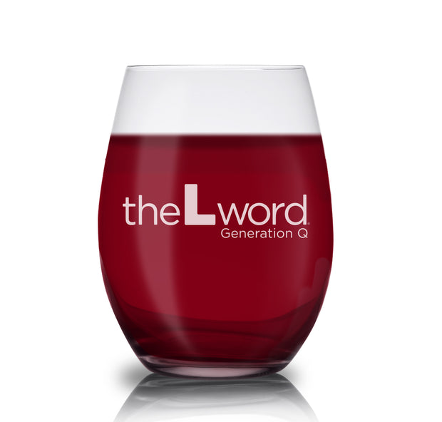 The L Word: Generation Q New Logo Laser Engraved Stemless Wine Glass