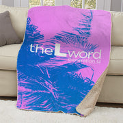 The L Word: Generation Q Palm Tree Logo Sherpa Blanket