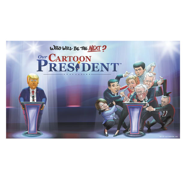 Our Cartoon President Who Will Be the Next Cartoon President? Adult Short Sleeve T-Shirt