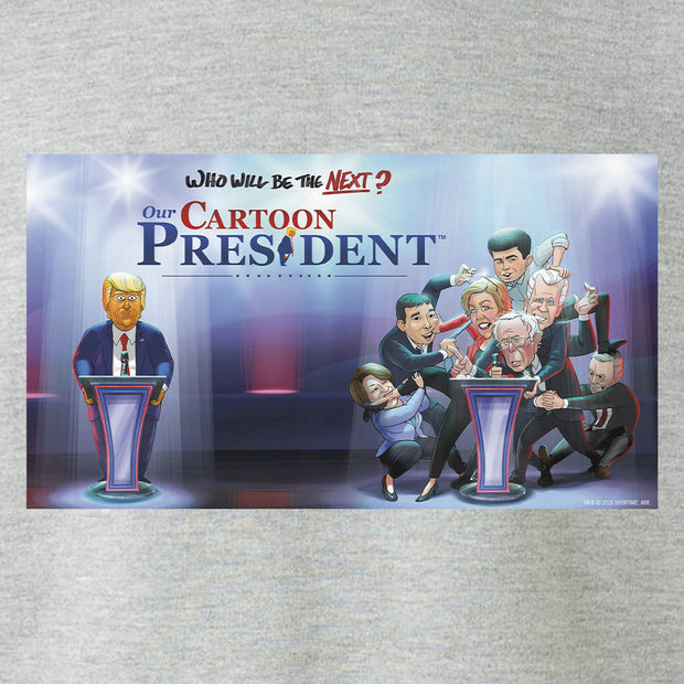 Our Cartoon President Who Will Be the Next Cartoon President? Fleece Crewneck Sweatshirt