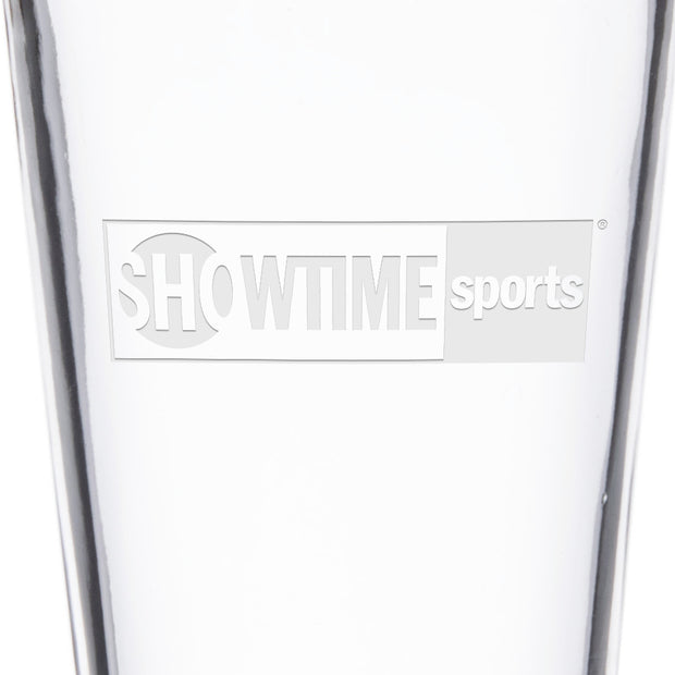 SHOWTIME Sports Black & White Outline Logo Laser Engraved Pint Glass