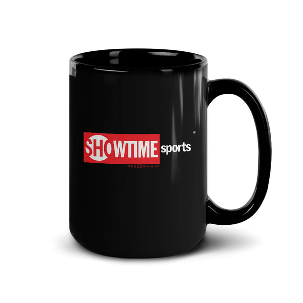 SHOWTIME Sports Red Box Logo Black Mug