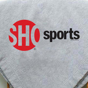 SHOWTIME Sports SHO Sports Red Bug Outline Logo Embroidered Sherpa Blanket
