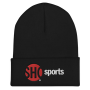 SHOWTIME Sports SHO Sports Red Bug Outline Logo Embroidered Beanie