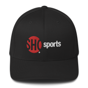 SHOWTIME Sports SHO Sports Red Bug Outline Logo Embroidered Hat