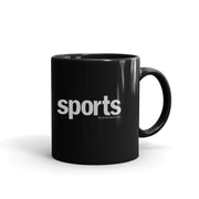 SHOWTIME Sports SO Sports Red Bug Outline Logo Black Mug