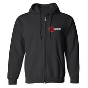 SHOWTIME Sports SHO Sports Red Bug Outline Logo Fleece Zip-Up Hooded Sweatshirt