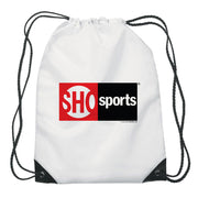 SHOWTIME Sports SHO Sports Red Bug Logo Drawstring Bag