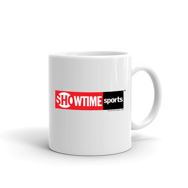 SHOWTIME Sports Red Logo White Mug