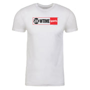 SHOWTIME Sports Red Outline Logo Adult Short Sleeve T-Shirt