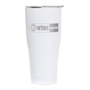 SHOWTIME Sports Black & White Outline Logo Laser Engraved SIC Tumbler