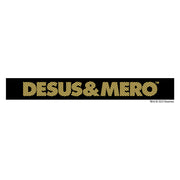 Desus & Mero Yellow Striped Logo Adult Tank Top