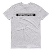 Desus & Mero White Striped Logo Adult Short Sleeve T-Shirt