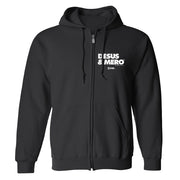 Desus & Mero Logo Fleece Zip-Up Hooded Sweatshirt