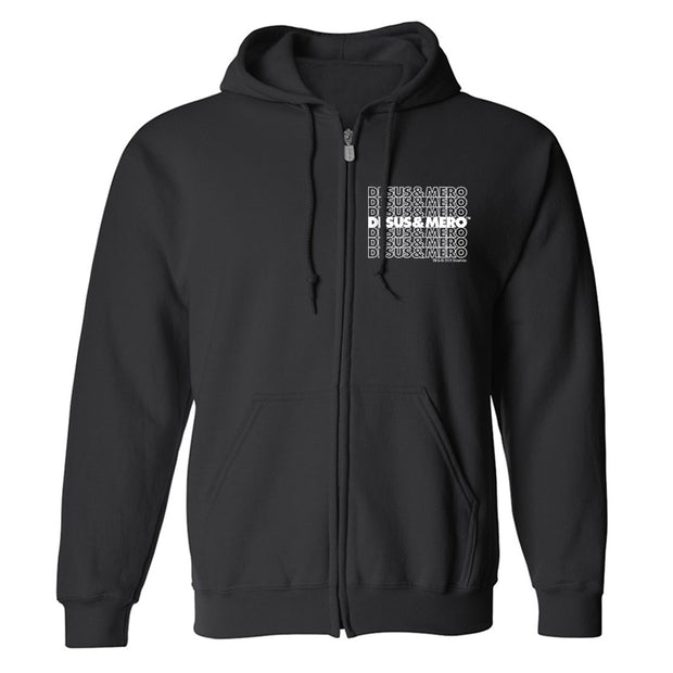 Desus & Mero Repeat Fleece Zip-Up Hooded Sweatshirt