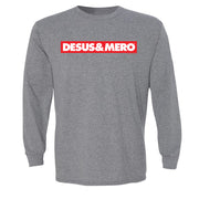 Desus & Mero Red & White Logo Adult Long Sleeve T-Shirt