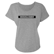Desus & Mero Striped Logo Women's Tri-Blend Dolman T-Shirt