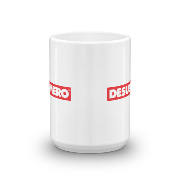 Desus & Mero Red & White Logo 15 oz White Mug