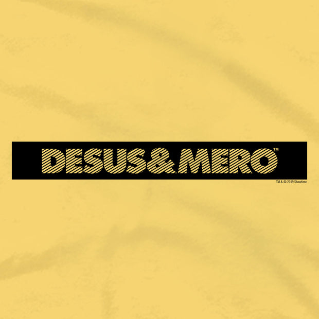 Desus & Mero Yellow Striped Logo Adult Short Sleeve T-Shirt