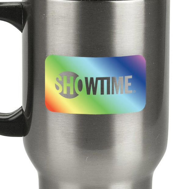 SHOWTIME Pride Box Logo 14 oz Stainless Steel Travel Mug