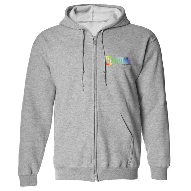 Showtime Pride Logo Fleece Zip-Up Hooded Sweatshirt