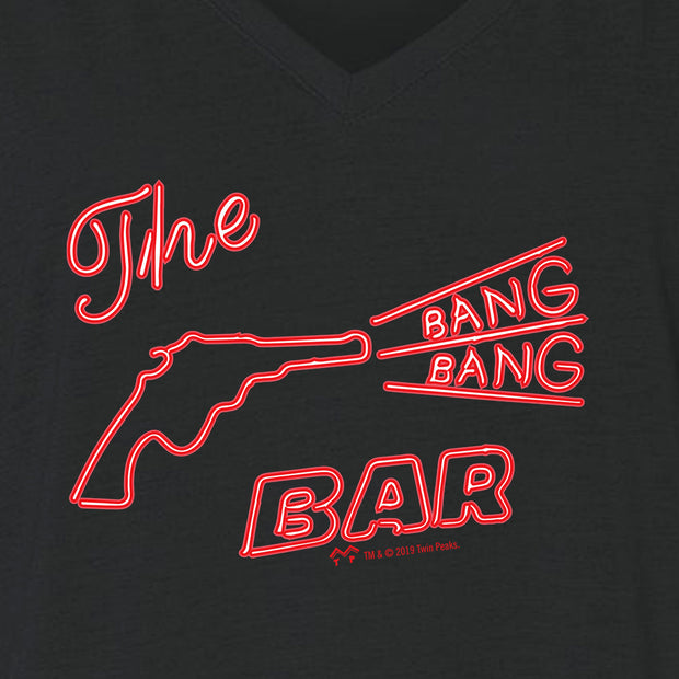 Twin Peaks Bang Bang Bar Women's Relaxed V-Neck T-Shirt