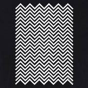 Twin Peaks Black and White Chevron Adult Tank Top