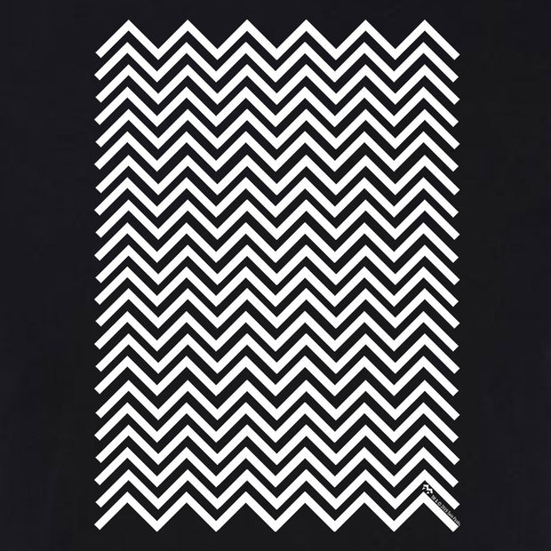 Twin Peaks Black and White Chevron Adult Short Sleeve T-Shirt