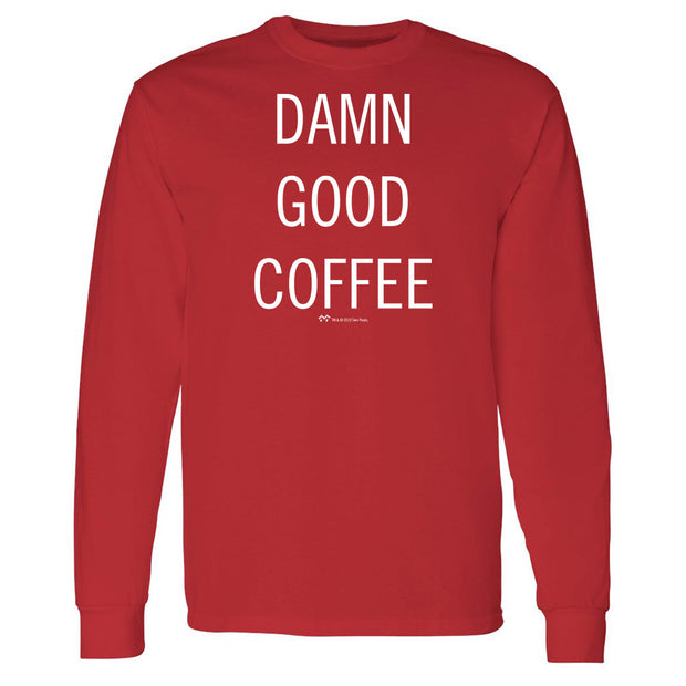 Twin Peaks Damn Good Coffee Adult Long Sleeve T-Shirt