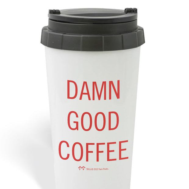 Twin Peaks Damn Good Coffee 16 oz Travel Mug