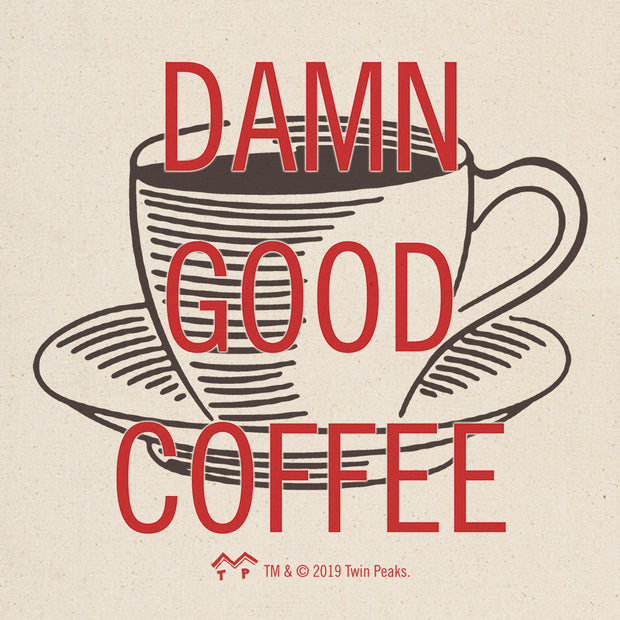 Twin Peaks Damn Good Coffee Cup Canvas Tote