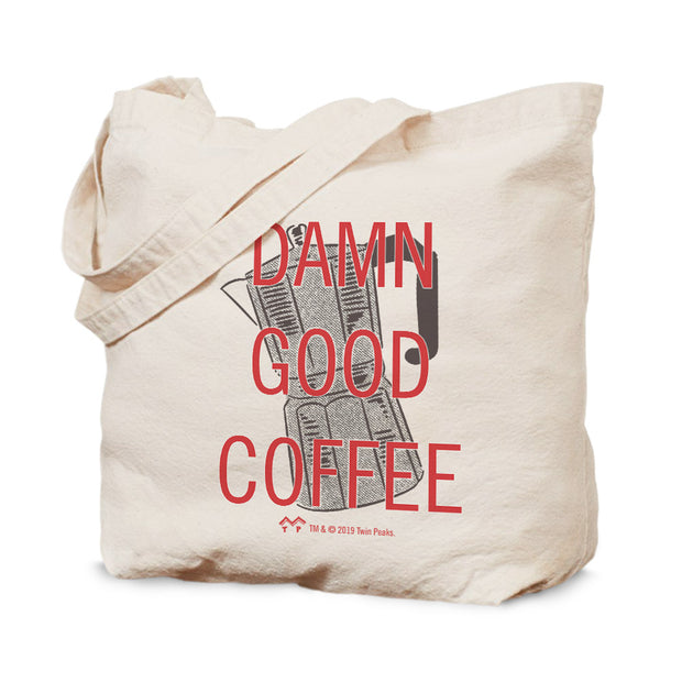 Twin Peaks Damn Good Coffee French Press Canvas Tote