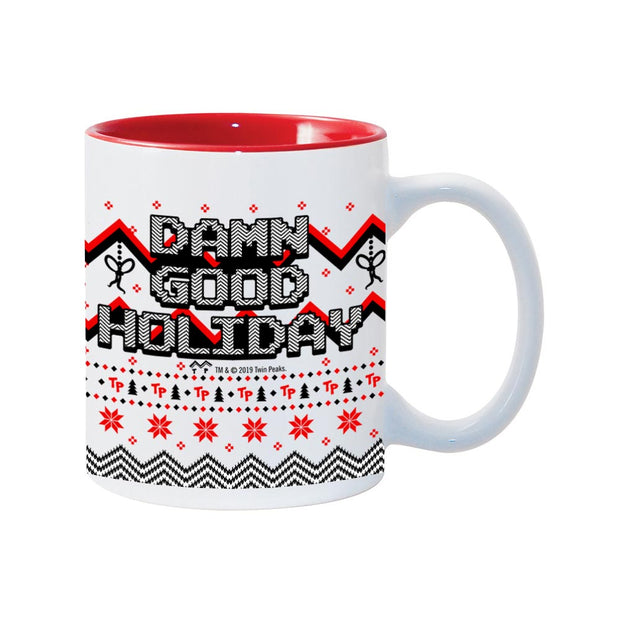 Twin Peaks Damn Good Holiday 11 oz Two-Tone Mug