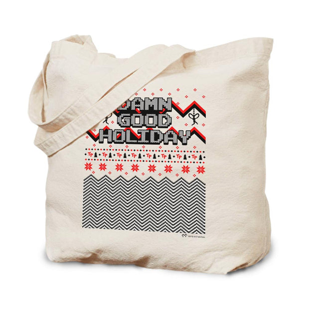 Twin Peaks Damn Good Holiday Canvas Tote Bag