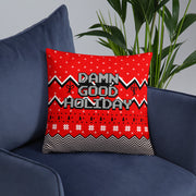 "Twin Peaks Damn Good Holiday Throw Pillow - 16"" x 16"""