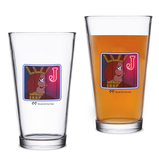 Twin Peaks One Eyed Jacks 16 oz Pint Glass