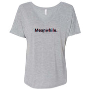 Twin Peaks Meanwhile 3D Women's Relaxed V-Neck T-Shirt
