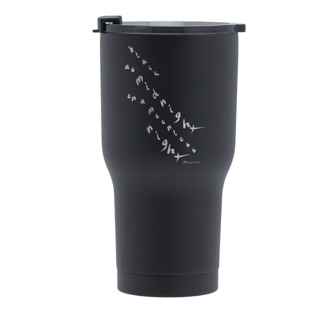 Twin Peaks Black as Midnight Handwritten RTIC Tumbler