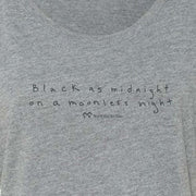 Twin Peaks Black as Midnight Handwritten Women's Tri-Blend Dolman T-Shirt