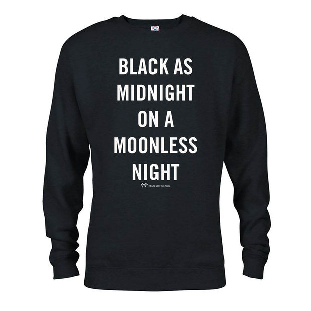 Twin Peaks Simple Black as Midnight Fleece Crewneck Sweatshirt