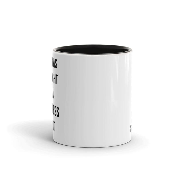 Twin Peaks Simple Black as Midnight Two-Tone Mug