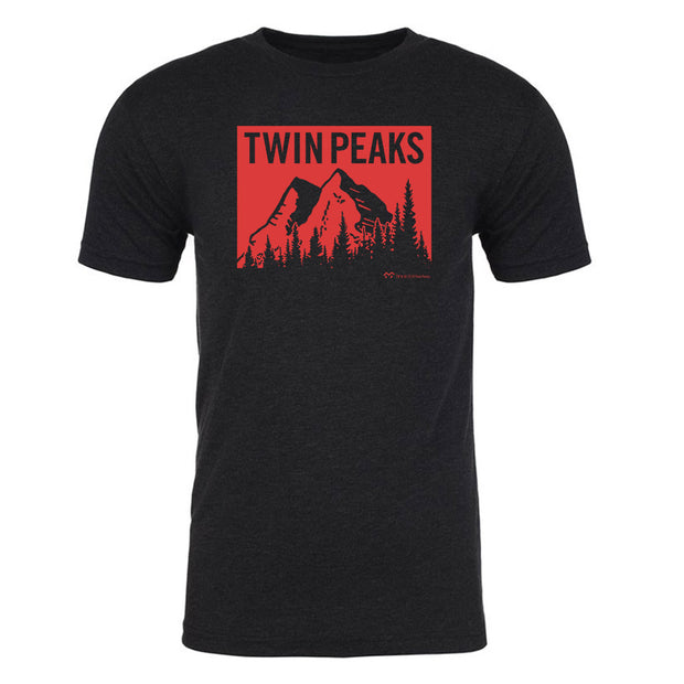 Twin Peaks Red Mountain Men's Tri-Blend T-Shirt