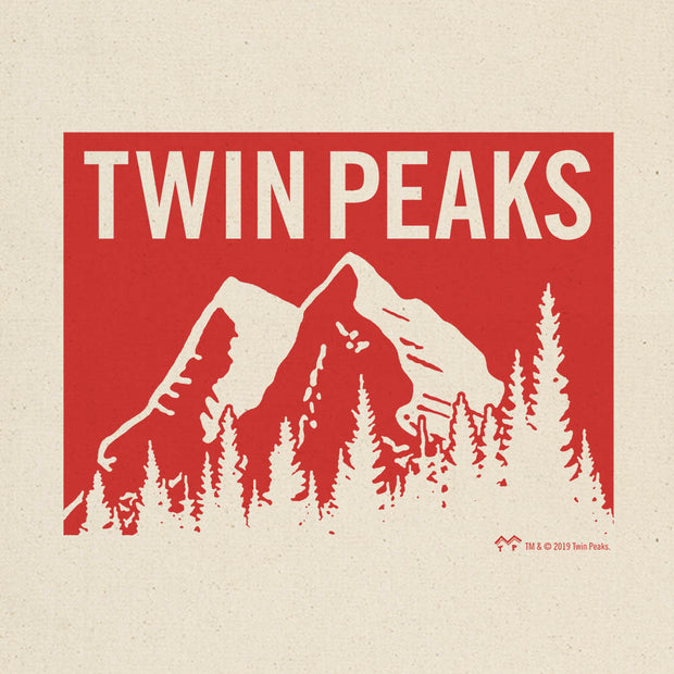 Twin Peaks Red Mountain Range Canvas Tote