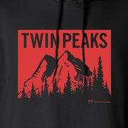 Twin Peaks Red Mountain Range Fleece Hooded Sweatshirt