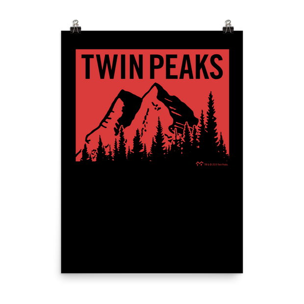 Twin Peaks Red Mountain Range Premium Satin Poster
