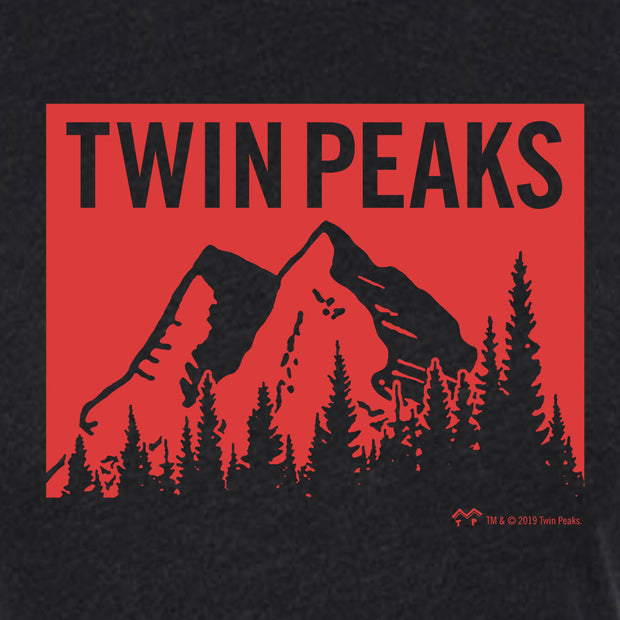 Twin Peaks Red Mountain Range Women's Tri-Blend T-Shirt