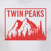Twin Peaks Mountain Range Adult Short Sleeve T-Shirt