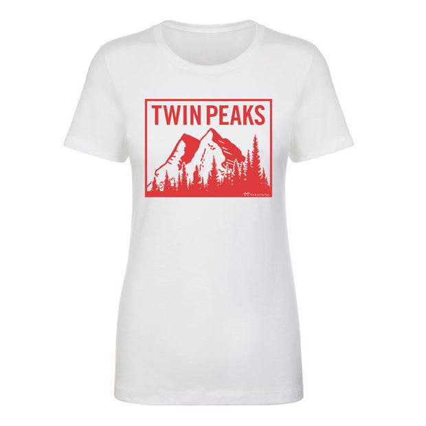 Twin Peaks Mountain Range Women's Short Sleeve T-Shirt