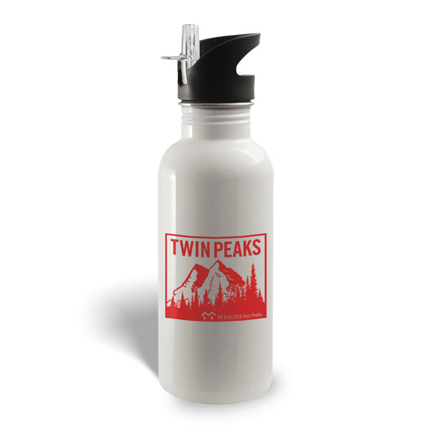 Twin Peaks Mountain Range 20 oz Screw Top Water Bottle with Straw